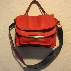 Calvin Klein Coral Leather Satchel